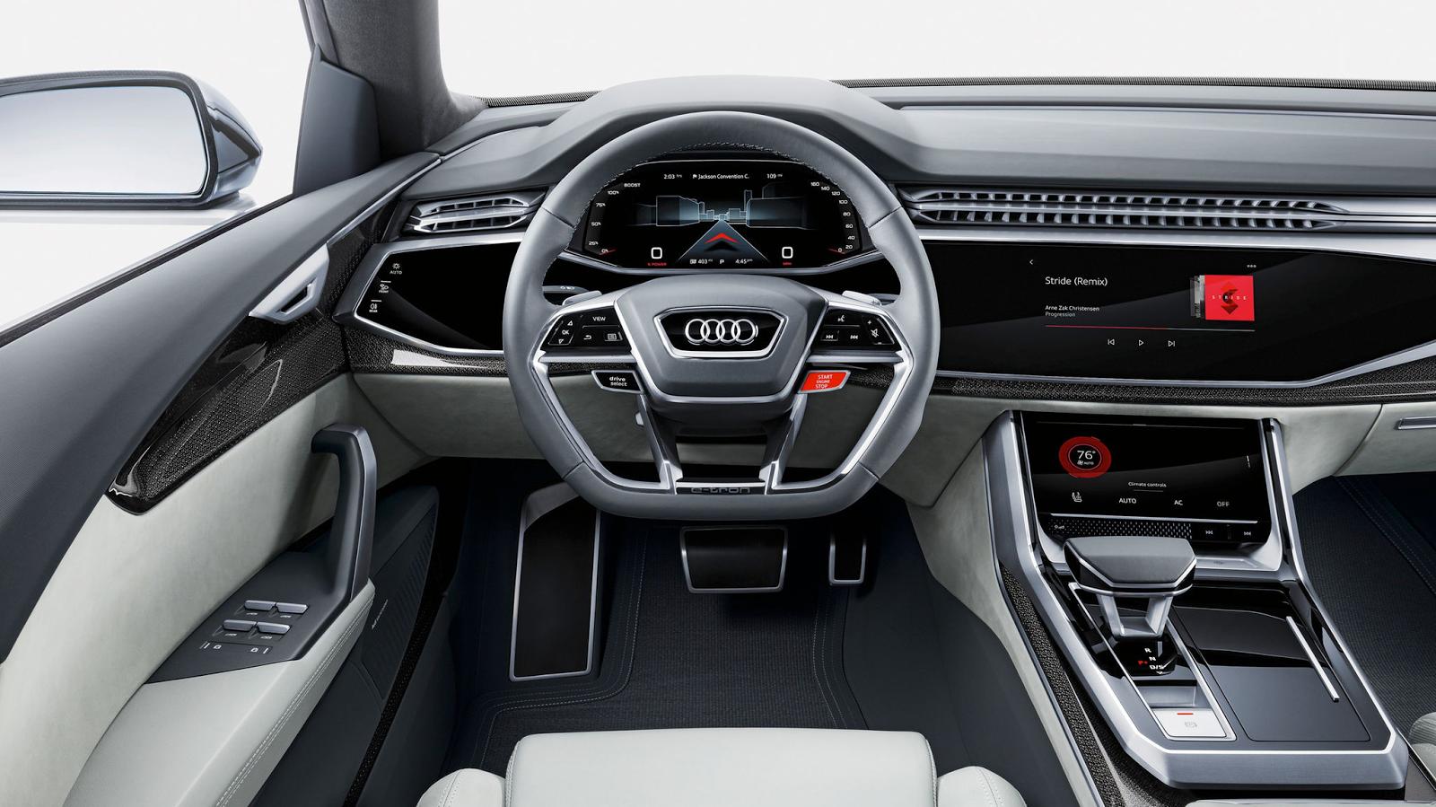 Audi Q8 2018 salong, Autosky