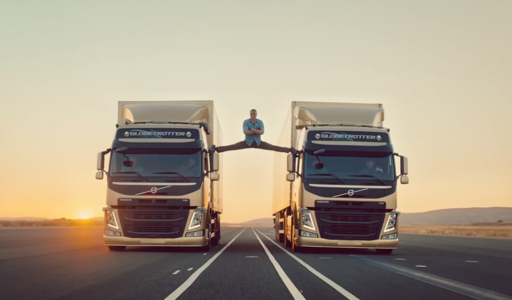 Van Damme teeb spagaati Volvo rekade vahel